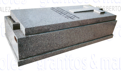 panteón funerario en granito gris quintana de lapidas norberto