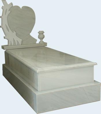 panteón funerario en mármol blanco macael de r.l. arranz